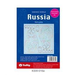 Kit Bordado SASHIKO WORLD Russia Matryoshka